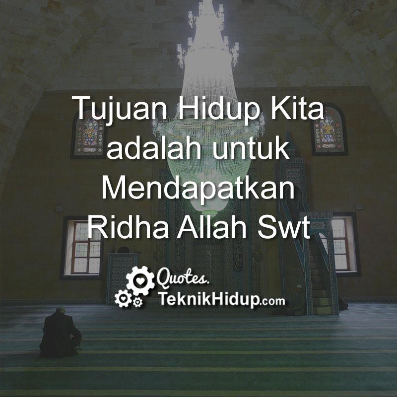 CAHAYA HIDUPKU: Hidup Untuk ALLAH..
