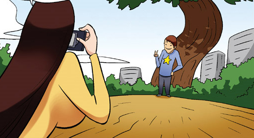Kim Chi & Củ Cải (bộ mới) phần 361: Máy ảnh nịnh đầm