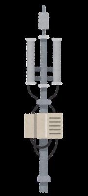 携帯電話基地局のアンテナのイラスト