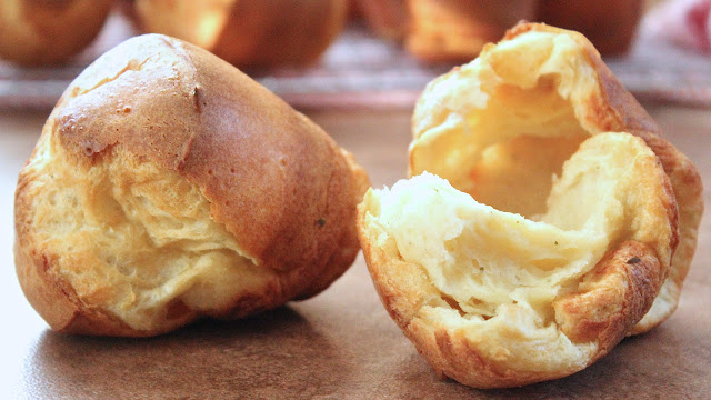Popovers with Garlic Herb Cheese