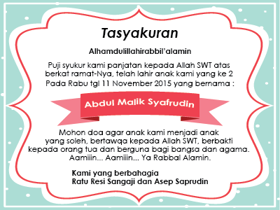 Membuat Desain Template Ucapan Syukuran Kelahiran Anak Ardiyansyah Com