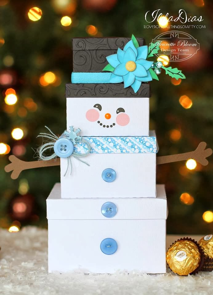 I Love Doing All Things Crafty: Snowman Gift Box