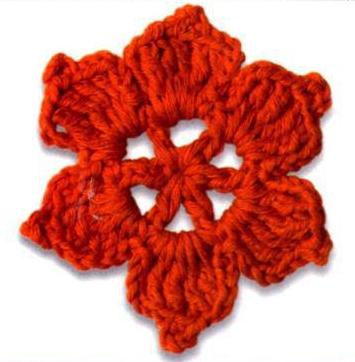 Patrón #1727: Flor a Ganchillo