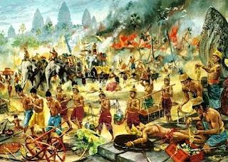 Tras la derrota del reino de Champa, los jemeres dominan todo el delta del río Mekong.