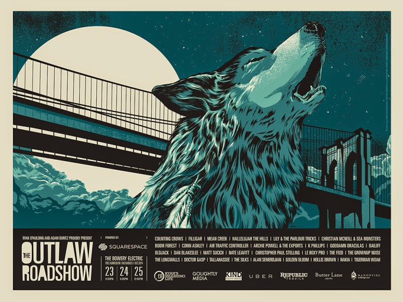 outlaw roadshow poster CMJ