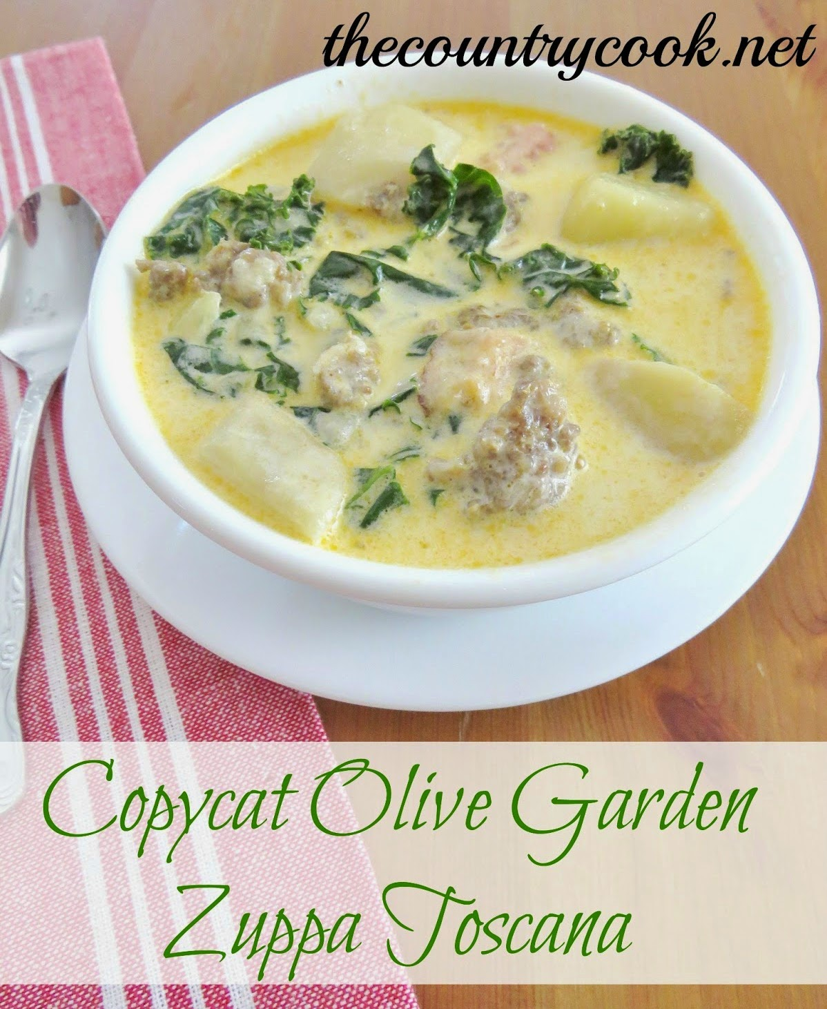 The country cook olive garden breadsticks - Recipe for olive garden zuppa toscana ...