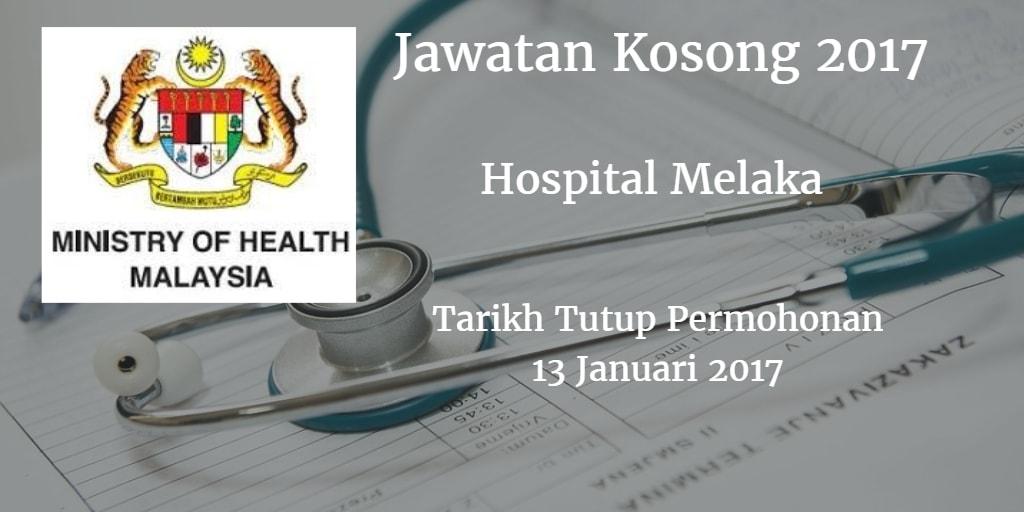 Jawatan Kosong Hospital Melaka 13 Januari 2017