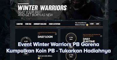 Event Bulanan Winter Warriors PB Garena, Tukarkan PB Coin dengan Hadiah Menarik