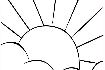 Gambar Mewarnai Matahari Terbit