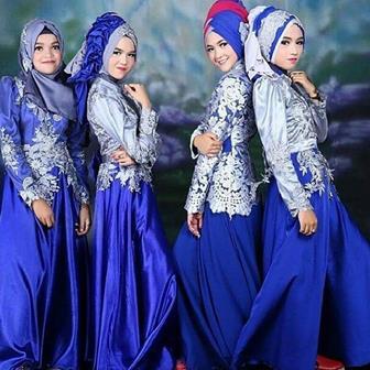 Contoh Model Gamis Untuk Orang Gemuk Dan Elegan