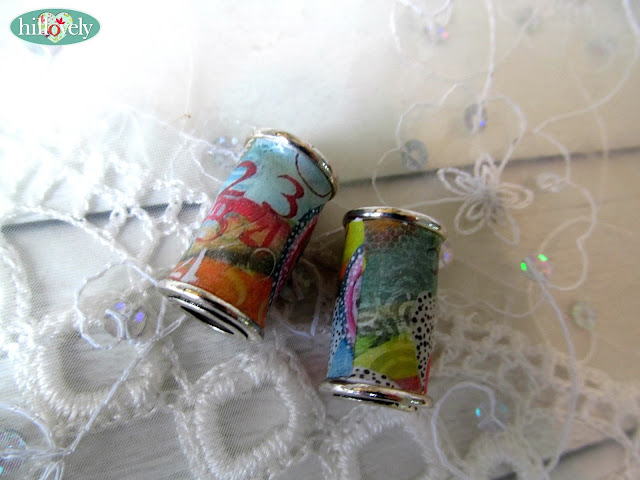 channel bead,tube bead,hilka bushari,hillovely,transfer paper, fimo tube bead,jewelry fimo