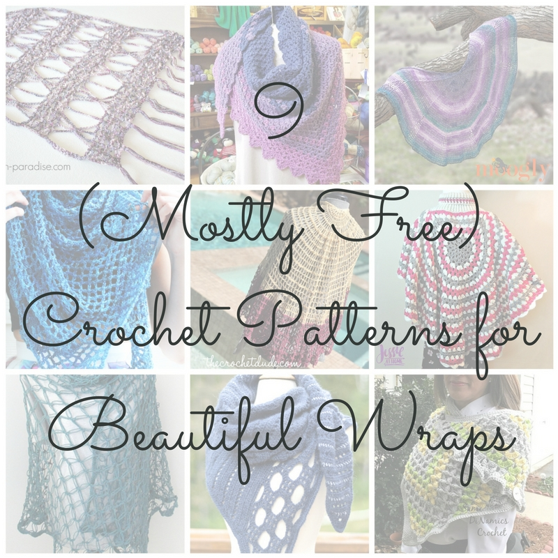 Cgoa Now 9 Mostly Free Crochet Patterns For Beautiful Wraps That