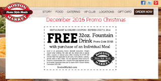 free Boston Market coupons for december 2016