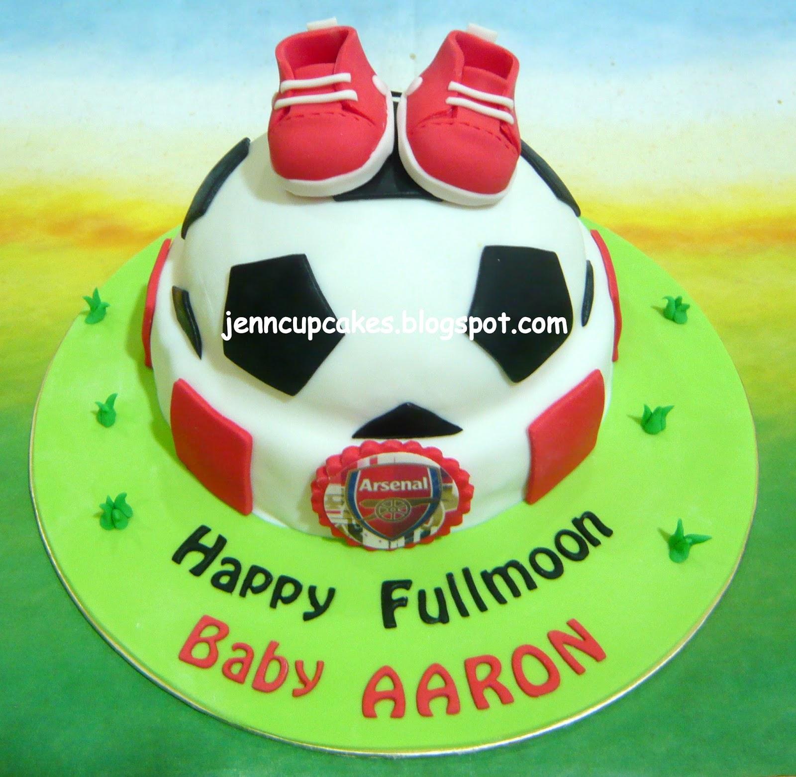 Jenn Cupcakes Muffins Arsenal Theme Fullmoon Cake