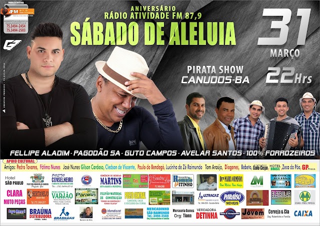 ANIVERSÁRIO DA RÁDIO ATIVIDADE FM 87.9