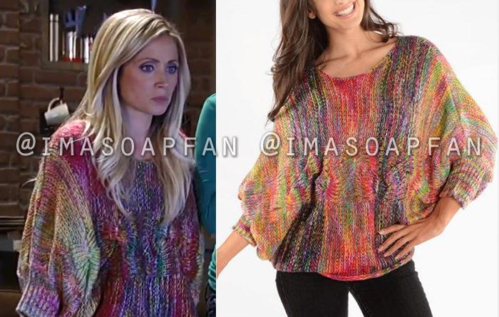 Lulu Falconeri, Emme Rylan, Rainbow Sweater, General Hospital, GH