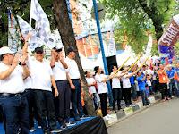 Wali Kota & Asisten Ekbang Provsu Lepas Peserta Jalan Santai