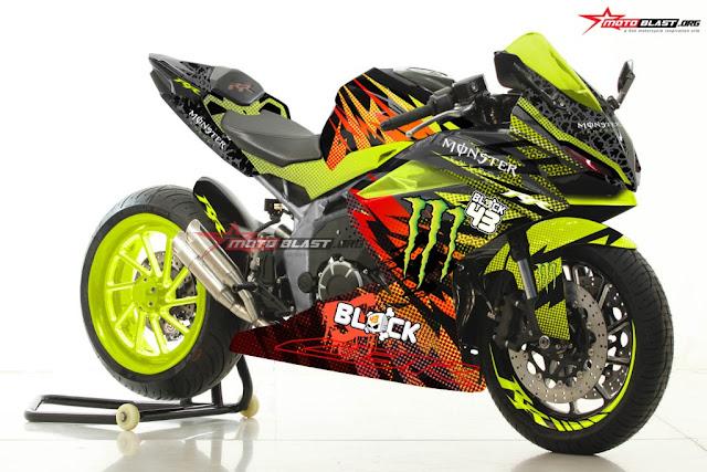 Modifikasi CBR250RR Monster Green