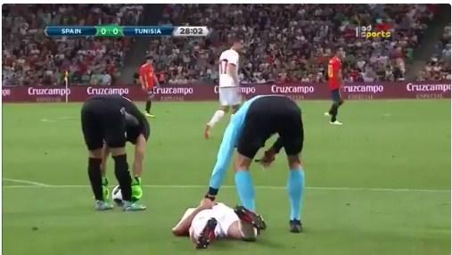خسارة قاتلة لمنتخب تونس امام الاسبانى 0-1 فى ختام الاستعدادات للمونديال.tunisia-vs-spain