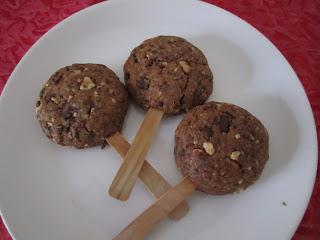 Sucettes-cookies des écureuils vegan