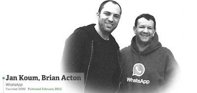 jan koum dan rekan pendiri aplikasi messenger whatsApp