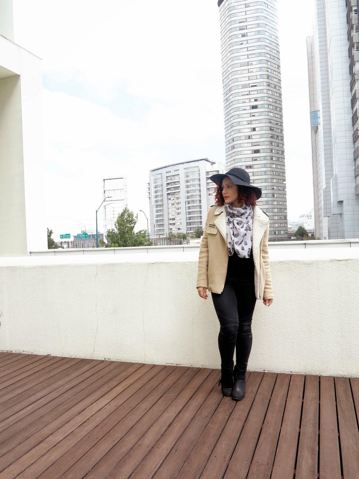http://www.tastemycloset.com/2014/10/camel-coat-skull-scarf-black-hat.html