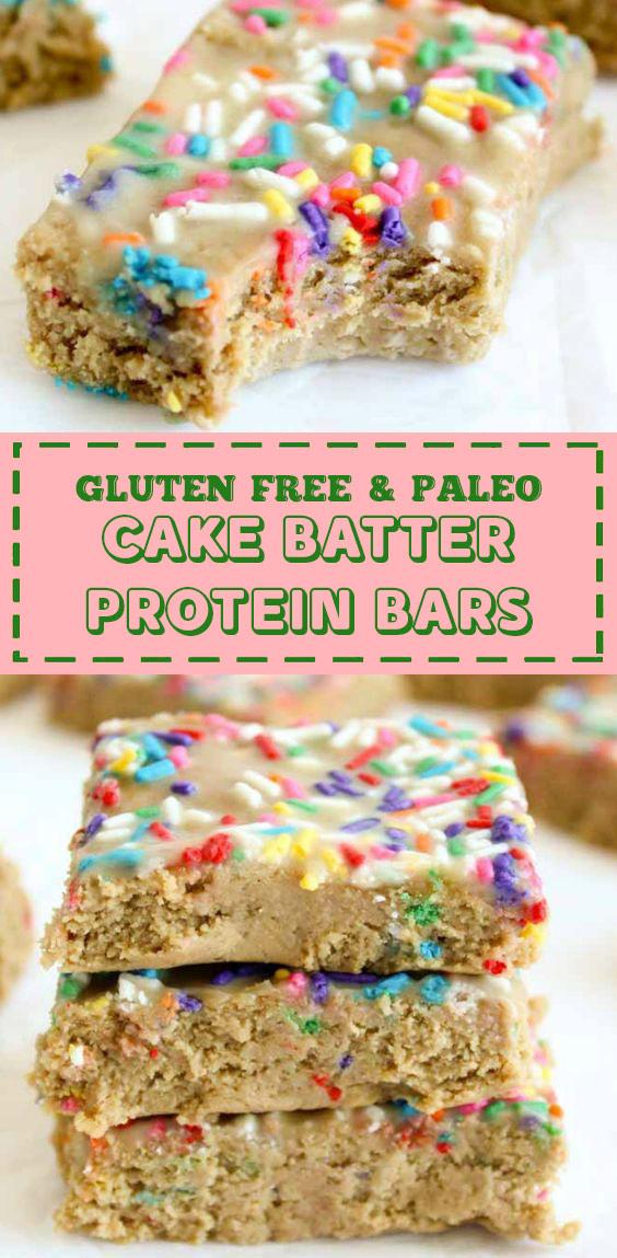 Healthy Funfetti Protein Bars