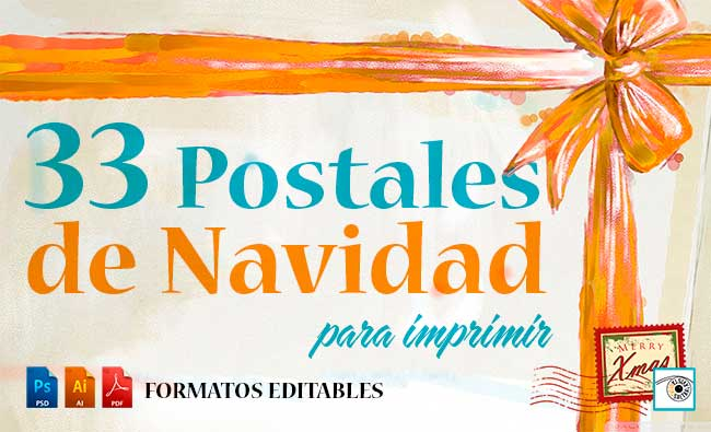 33 Postales de Navidad Editables para Imprimir | Saltaalavista Blog
