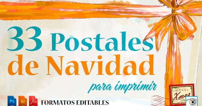 Saltaalavista Blog: 33 Postales de Navidad Editables para Imprimir