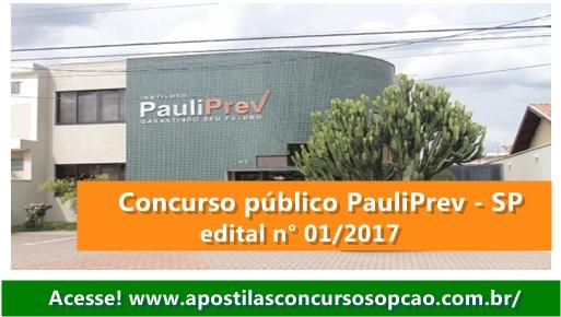 PauliPrev edital Concurso Público 2017