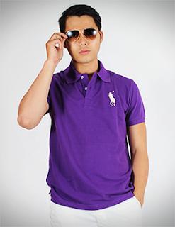 áo thun trơn màu tím