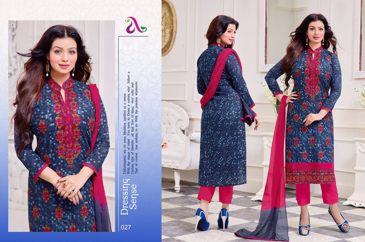 Mrtina – Ayesha Takia Exclusive Cotton Satin Dress Material