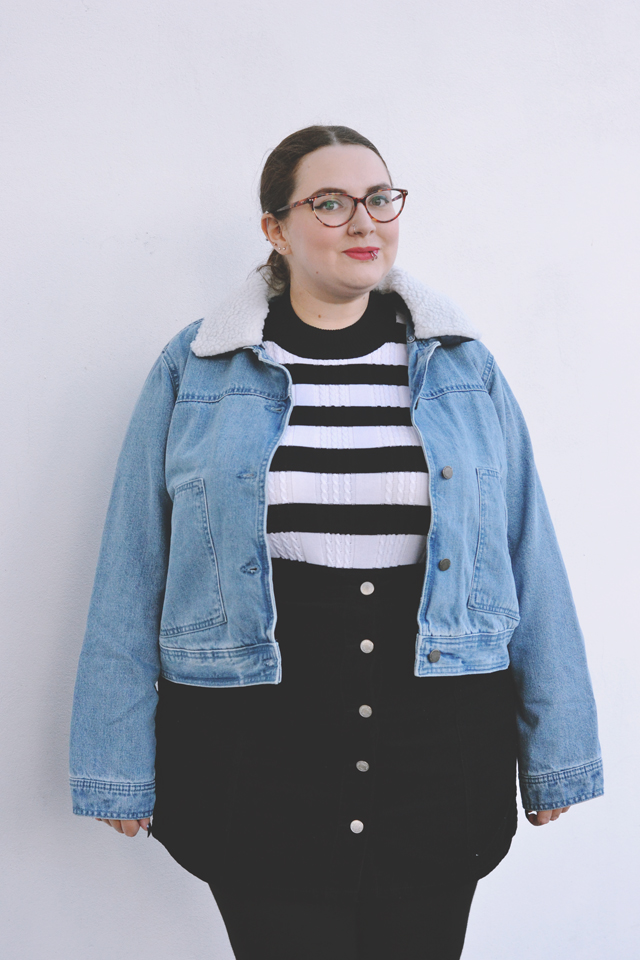 Plus size oversized denim jacket