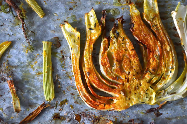 ROASTED CURRIED FENNEL