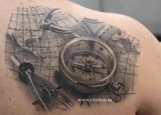 Tatuajes de brújulas | Belagoria