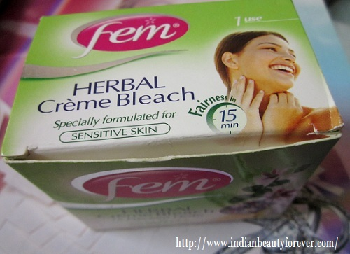 Fem herbals Crème Bleach for sensitive skin