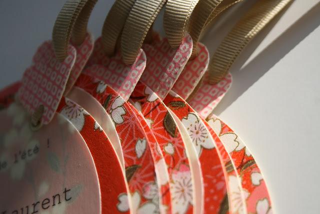 faire-part mariage chic bohème coloré papier japonais sur mesure raffiné fait main haut de gamme cadeau invité