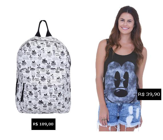 Renner: mochila e regata Mickey