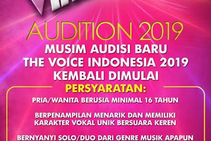 The Voice Indonesia 2019 Kembali Hadir, Catat Jadwal dan Formulir Kapan Audisinya