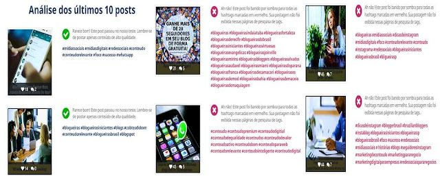 Publicações com Shadowban no Instagram