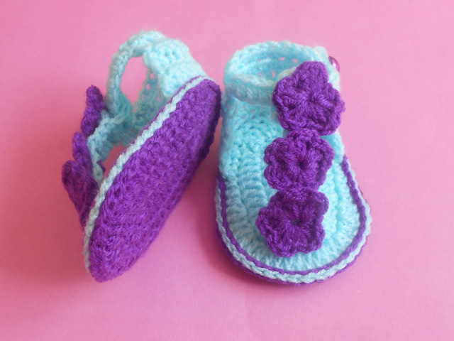 913285a6f Crochet - Crosia Free Patttern with Video Tutorials  Baby sandals ...