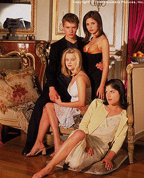 The four leads Cruel Intentions 1999 movieloversreviews.filminspector.com