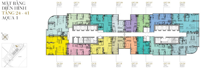 Plans Apartment Aqua 1 - The Aqua