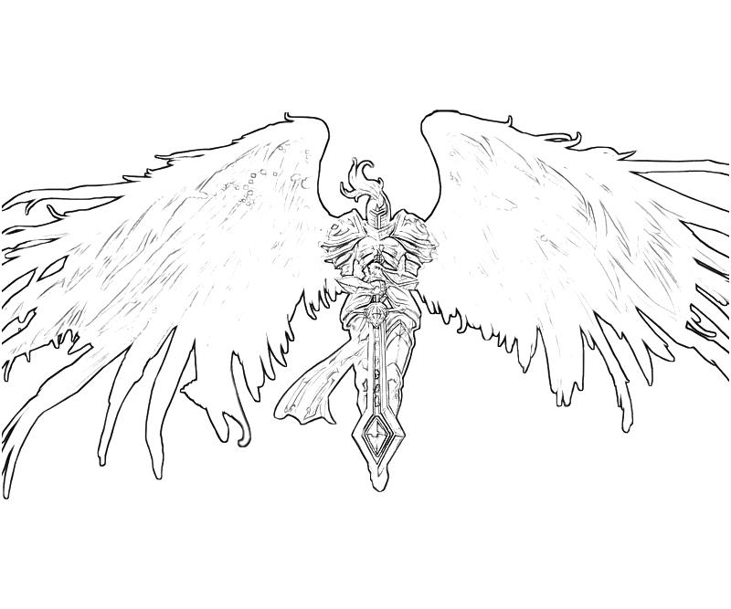 Dark Angel Drawings Sketch Coloring Page