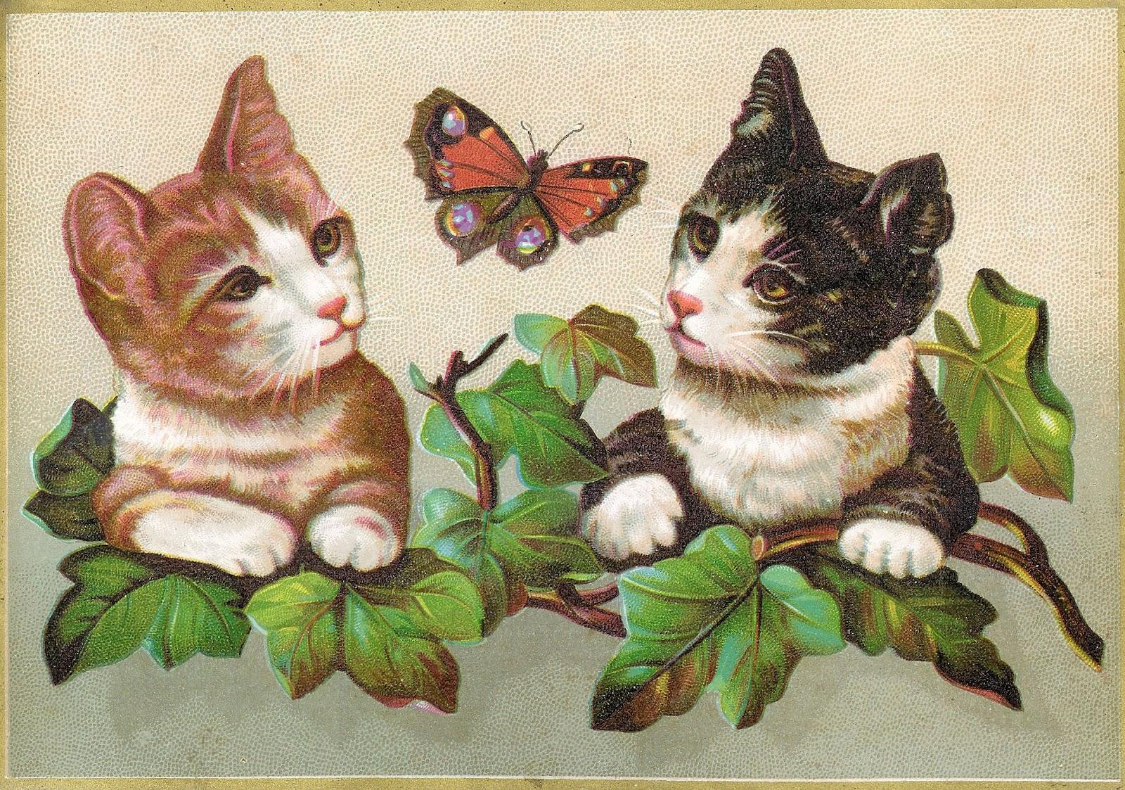 Antique Images: Vintage Victorian Die Cut: 2 Clip Art of ...