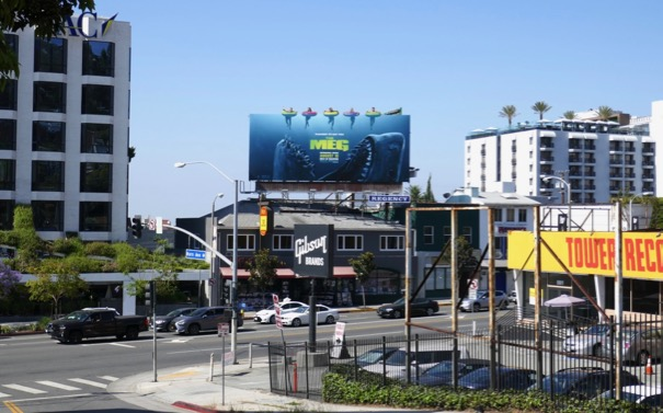 The Meg movie billboard