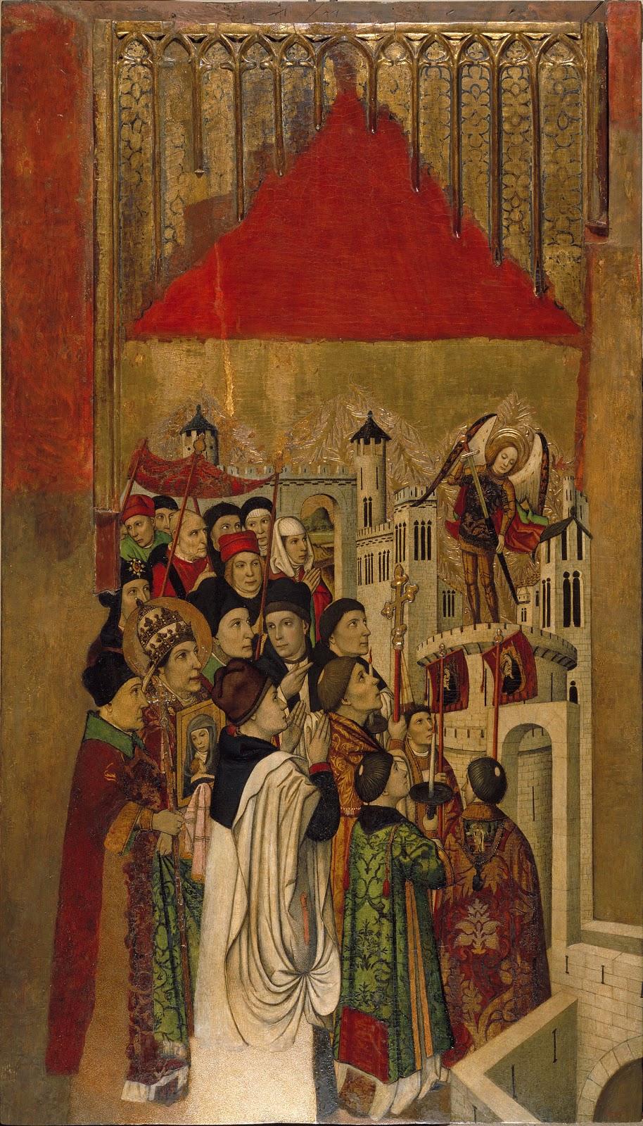 Jaume Huguet apparition of saint michael at the castle of santangelo