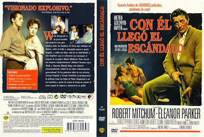 Carátula dvd: Con él llego el escándalo (1960)