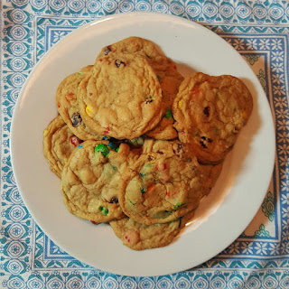 M&M Cookies ready to eat