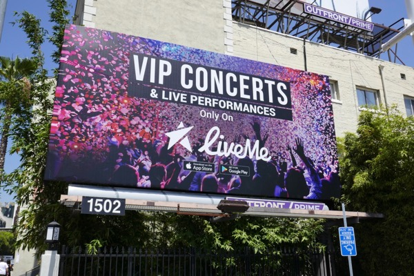 VIP Concerts LiveMe billboard